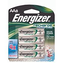 Energizer Rechargeable Batteries, AA Size, 8-Count