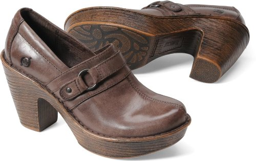 Born Womens Haddon Platform Slip-On Dark Brown Size 8