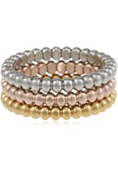 Lady's 3pcs 18kt Gold Set Ring, Size 7