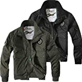 Mens U.S. Air Force Army Bomber Winter Hooded Trench Coats Outwear Jackets