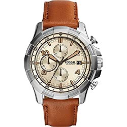 Fossil Dean Chronograph Leather Watch by Fossil