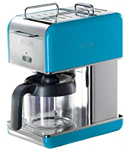 Delonghi Coffee Maker Blue : Amazon.com: DeLonghi Kmix 10-Cup Drip Coffee Maker, Blue: De Longhi Coffee: Kitchen & Dining