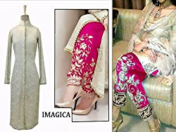 Lilots Silver Georgette party-wear-salwar-kameez