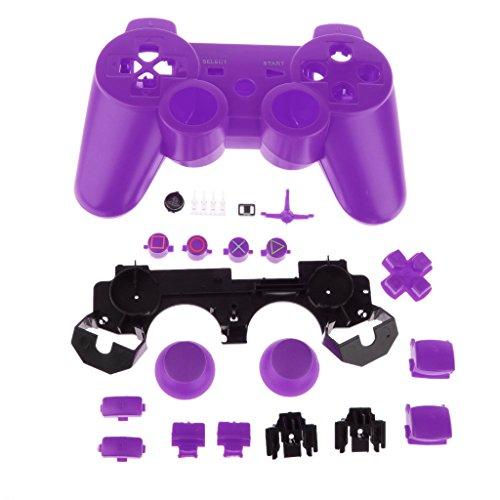Remplacement Logement Complet Shell Cas Kit Mod pour PS3 Contrôleur - Violet
