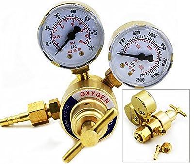 Rear Mount Oxy Oxygen Gas Welding Welder Regulator Pressure Gauge Victor Type
