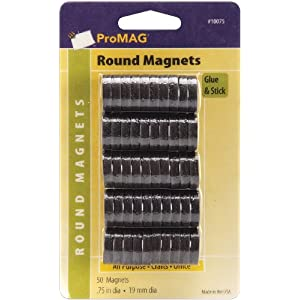 ProMAG 3/4&quot; Round Magnet 50-Pack