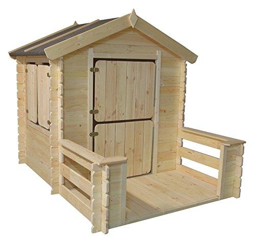 Kinder-Spielhaus Play Park, Maße: 1,75 x 1,30 m, aus 19mm Blockbohlen jetzt bestellen