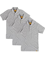 Campus Sutra Men Grey Polo Neck Tshirt Pack Of 3 - B00QSD8IUW