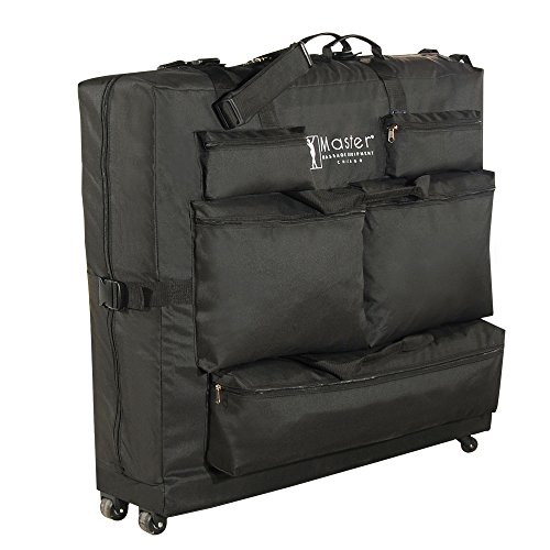 master-massage-universal-wheeled-massage-table-carry-casebag-for-massage-tableblack