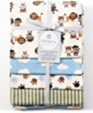 Carter's Receiving Blankets, Best Friends, 4 Count (Discontinued by Manufacturer)