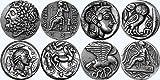 Zeus, Athéna, Apollon /, Nike, dieux grecs & déesses Collection, plus célèbres monnaies grecques, série 2 de 4 différents ensembles...