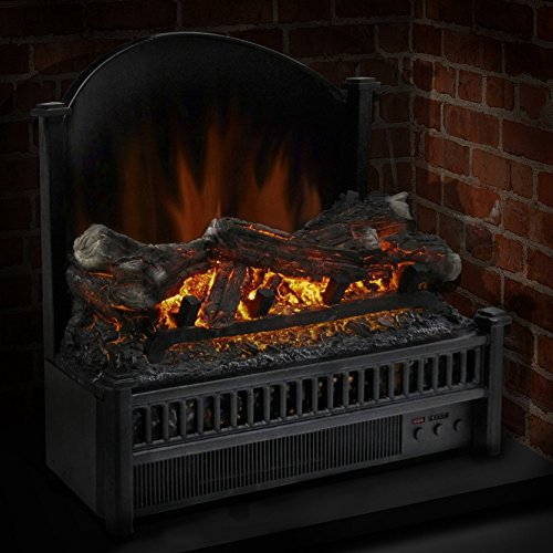 Moda Flame Woodmere 24 Inch Ventless Electric Space Heater Free Standing Firebox Fireplace Insert