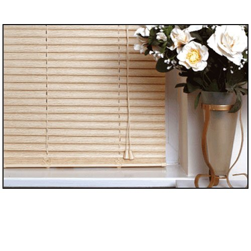 EASYFIT NATURAL Wood Effect Venetian blinds * AVAILABLE IN WIDTHS 45 CM TO 210 CM * ALSO AVAILABLE IN DARK OAK...