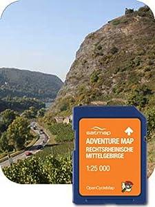 Satmap GPS System Adventure Map Deutschland 1:25000 rechtsrheinische Mittelgebirge, schwarz, DE-REG-ADV-SD-003