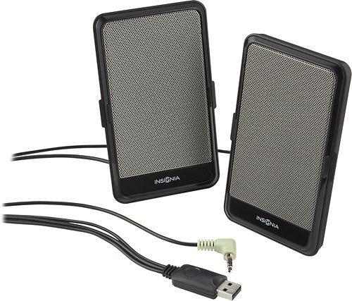 INSIGNIA NS-PLTPSP13 Portable Slim Laptop/ Computer Speakers