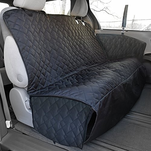 Travel Inspira Pet Seat Cover With Extra Side Flaps, Bonus Car Safety Belt for Cars Trucks Suv's - Black, WaterProof & Hammock Convertible (Seat Cover For F150 Truck compare prices)