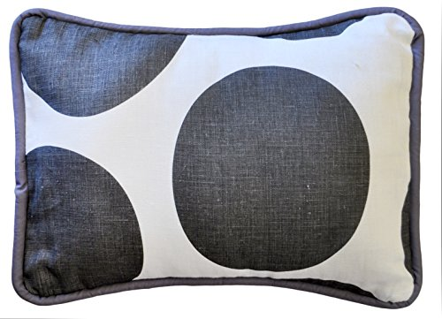 New Arrivals Accent Pillow, Spot on in Charcoal