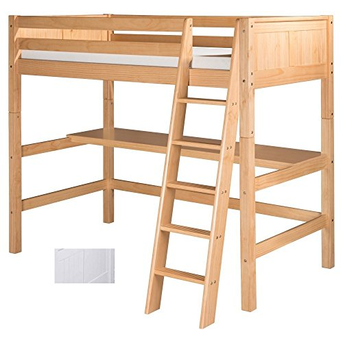 White Wooden Bunk Beds 1736 front