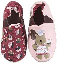 Robeez Infant Toddler Girl Slip on Shoes Pastry Squirrel Brn/Rhodo 2 Styles in 1. 6-12 Months