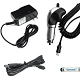 Chargers Bundle For Garmin Nuvi 55LM GPS - Heavy Duty Car Charger (with 8 Ft Thick Cord) + Home Travel AC Charger... - B00KC8IQTM