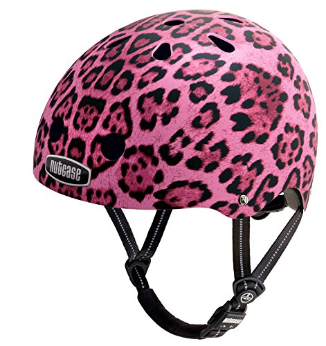 Nutcase - Street Bike Helmet, Fits Your Head, Suits Your Soul - Pink Cheetah Matte, Small
