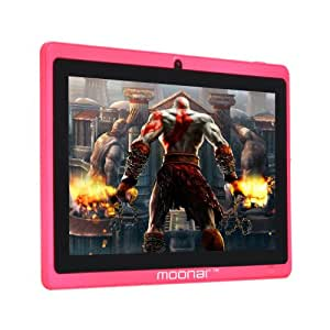 Moonar ® 7'' Tablette PC Allwinner A13 1.2-1.5GHZ Ecran Capacitif 5 Points Android 4.0 512 Mo 4 Go Caméra Frontale Wi-Fi Tablette Ordinateur (Rose)