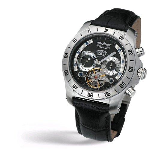 Perigaum 1972 Transatlantic Automatic Reloj elegante para hombres Volante Abierta