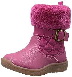 OshKosh B\'Gosh Honey G Quilted Winter Fashion Boot (Toddler/Little Kid), Pink, 10 M US Toddler