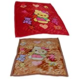 IndiWeaves 1 Single Ply 1 Double Ply Baby Blanket Offer -Set Of 2 Baby Blanket