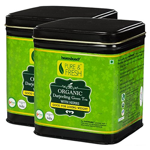 Healthbuddy Organic Green Tea With Herbs (Weight Loss) 2 Packs Of 100 Gm Each