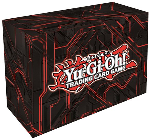 Konami Yugioh Card Game Storage Red Dual Double Deck Box (Version #3 - Red) - 1