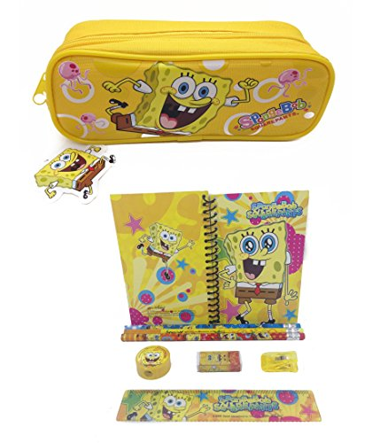 SpongeBob Squar Pants Combo Stationary Set + Pencil Pouch - 1