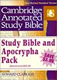img - for By Howard Clark Kee NRSV Cambridge Annotated Study Apocrypha Hardback Shrink-Wrapped Pack NR340 (Revised) [Hardcover] book / textbook / text book