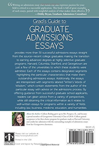 of essay for grad school admission