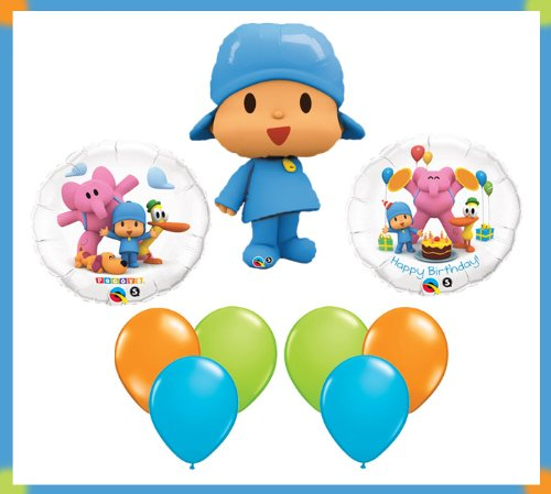 Pocoyo & Friends Happy Birthday Party Balloon Set Bouquet Decoration