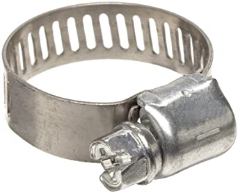 "Precision Brand M6P Micro Seal, Miniature Partial Stainless Worm Gear Hose Clamp, 5/16"" - 7/8"" (Pack of 10)"