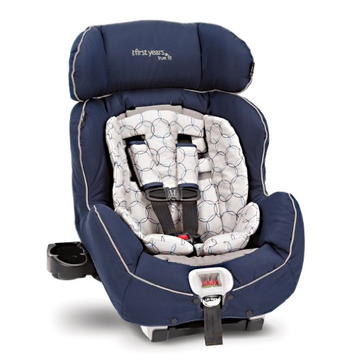 convertible car child seat the first years true fit recline convertible car seat navy gray. Black Bedroom Furniture Sets. Home Design Ideas