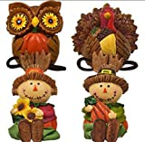Whimsical Dangle-Leg Fall Characters, 7 Arrangements Perfect Accent for Fall Thanksgiving Decorating! (Set of 4)