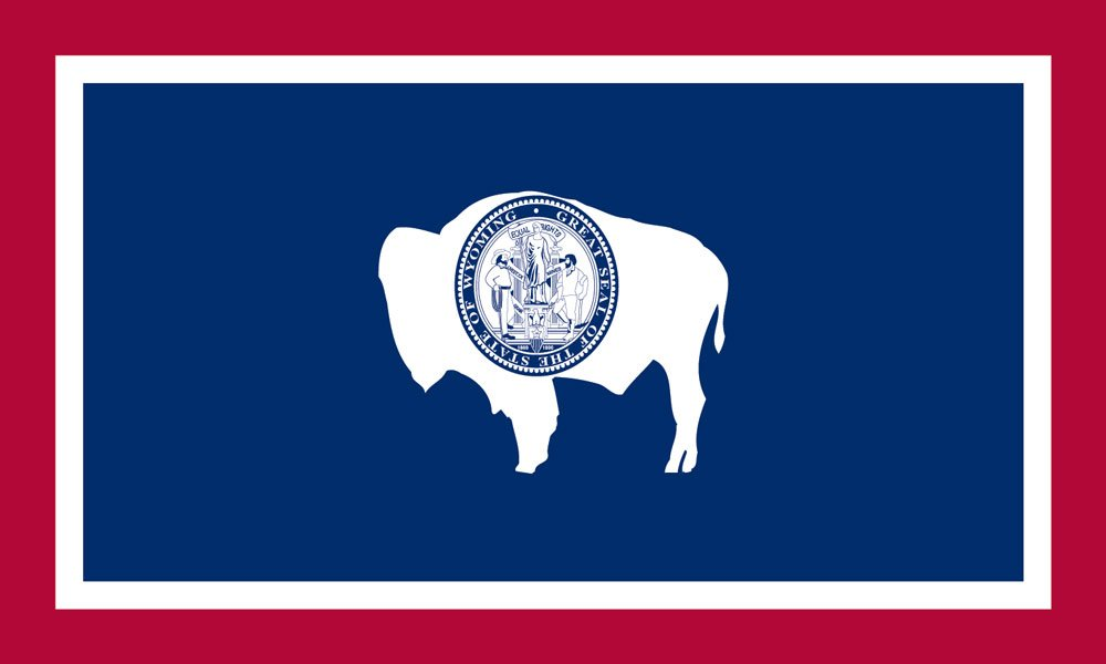 Wyoming State Flag Coloring Page Wyoming State Flag Coloring