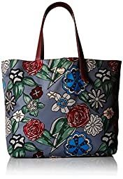 Furla Dama Printed Medium Tote Bag, Toni Lava/Granata, One Size