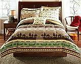 Fishing, Cabin, Lodge, Canoe Queen Comforter Set (8 Piece Bed In A Bag)
