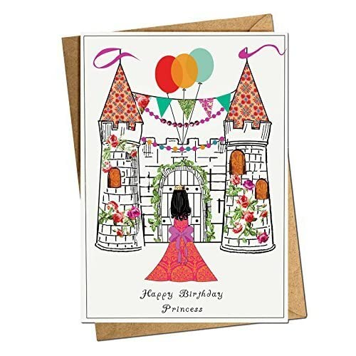 Princess Happy Birthday Card
