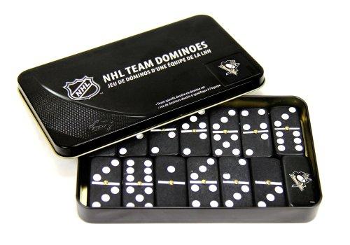 NHL Pittsburgh Penguins Domino Set in Metal Gift Tin - 1