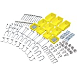 Triton Products 76995 DuraHook Zinc Plated Steel Hook and Bin Assortment for DuraBoard 85 Assort Hooks and 10 Assort Bins, 95-Piece