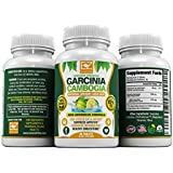 #1 Best 85% PURE Garcinia Cambogia - HIGH LEVEL OF PROVEN HCA - Appetite Suppressant - Energy Boost - Weight Loss - USA - Detox - Potassium - Gluten Free - As Seen On TV - 30 Days Happiness Guarantee
