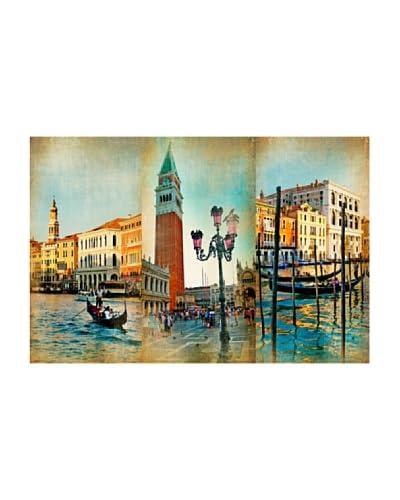 LegendArte Panel Decorativo Sobre Lona Collage Veneziano 60X90