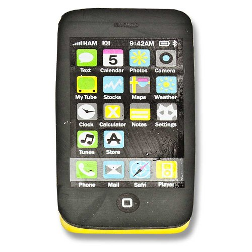Radiergummi Handy Smartphone Touch Handy Mobile Phone gelb
