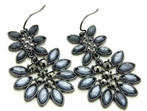 EARRING FISH HOOP METAL GRAY Fashion Jewelry Costume Jewelry fashion accessory Beautiful Charms