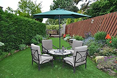 Gardensity ® PARASOL New 2.7m Steel Metal Powder Coated Garden Furniture Parasol With Winding Crank & Tilt Function
