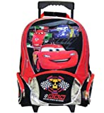 Disney Pixar Cars Lightning Mcqueen 16 Large Rolling Backpack